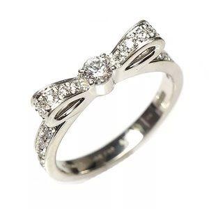 Chanel bow ring ruban 18k white gold w/ diamonds